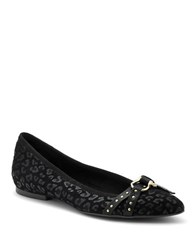 Sperry Embossed Leather Flats Black