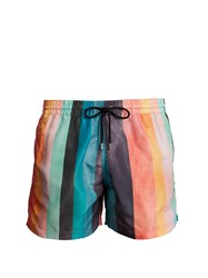Paul Smith Artist Stripe Print Swim Shorts Multi