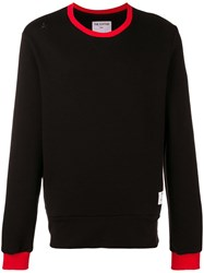 The Editor Name Tag Loose Fit Sweatshirt Black