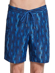 Wrk Materials Middleton Tie Dye Swim Trunks