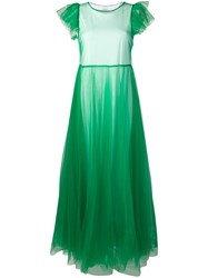 P.A.R.O.S.H. Tulle Evening Dress Green