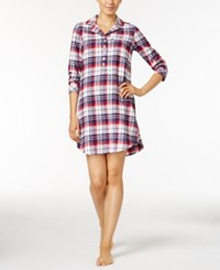 Jockey Printed Flannel Sleepshirt Red Plaid