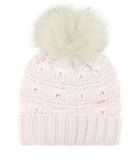 Woolrich Serenity Fur Trimmed Wool Hat White