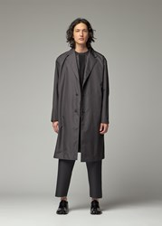 Issey Miyake 'S Pleats Coat In Black Size 2 100 Polyester