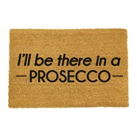Artsy Doormats I'll Be There In A Prosecco Door Mat