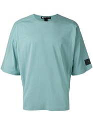 Y 3 Panelled Boxy T Shirt Green