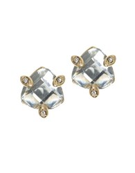 Lonna And Lilly Triangle Crystal Stud Earrings