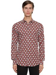 Dolce And Gabbana Dg Logo Printed Shirt Red