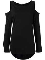 Gloria Coelho Cold Shoulder Blouse Women Viscose G Black