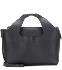 The Row Two For One Leather Tote Black