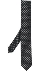 Dolce And Gabbana Tile Print Tie Black