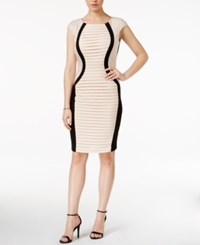 Jax Mesh Rhinestone Panel Bodycon Dress Shell Pink