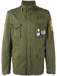 History Repeats Embroidered Field Jacket Green