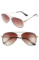Ed Ellen Degeneres Women's 58Mm Aviator Sunglasses Matte Yellow Gold