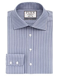 Thomas Pink Ackerman Texture Classic Fit Dress Shirt Bloomingdale's Classic Fit Navy White