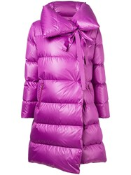 Bacon Asymmetric Padded Coat Pink