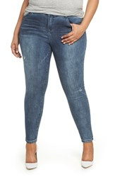 Wit And Wisdom Plus Size 30 10 High Rise Ab Solution Skinny Fit Jeans Blue