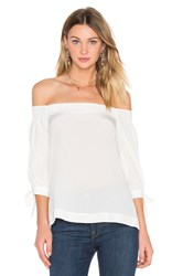 Trina Turk Kandis Off Shoulder Top White