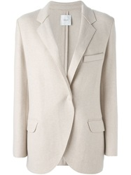 Agnona Single Button Blazer Nude And Neutrals