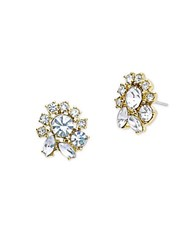 Marchesa Faceted Stone Stud Earrings Gold