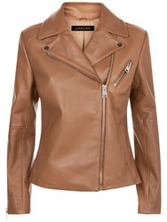 Jaeger Leather Biker Jacket Camel