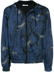 Givenchy Paisley Butterfly Windbreaker Blue