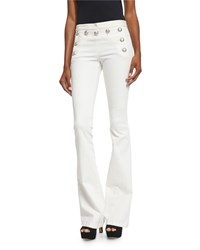 Veronica Beard Stretch Flare Sailor Pants White Women's