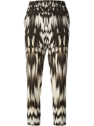 Roberto Cavalli Tapered Graphic Print Trouser Black