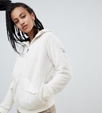 The North Face Campshire Bomber Fleece In White Vintage White