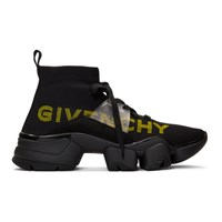 Givenchy Black Jaw Mid Top Sneakers
