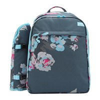 Joules Four Person Picnic Rucksack Grey Floral