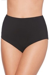 Laundry By Shelli Segal Women's High Waist Bikini Bottoms Black