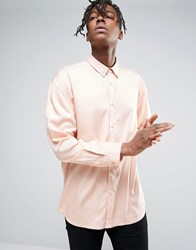 Another Influence Oversize Viscose Shirt Pink