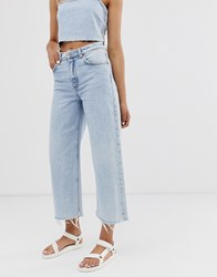 Cheap Monday Recycled Ally Rigid Wide Leg Jeans With Raw Hem Blue