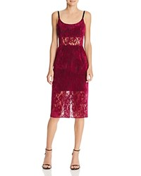 Abs By Allen Schwartz Velvet Lace Cocktail Dress Mulberry