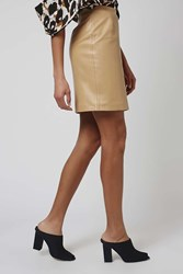 Leather Pencil Skirt By Boutique Camel
