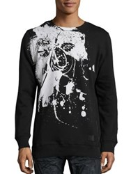 Prps Stamped Cherub Graphic Printed Pullover Black