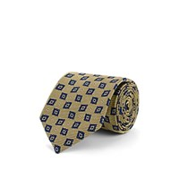 Fairfax Diamond Dot Silk Jacquard Necktie Gold