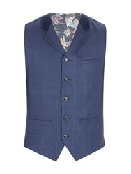 Gibson Men's Navy Pick And Pick Check Vest Navy