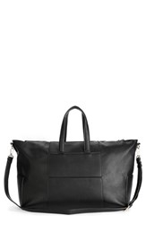 Sole Society Cory Faux Leather Travel Tote Black