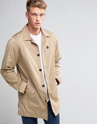 Le Breve Straight Trench Mac Tan