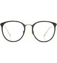 Linda Farrow Limited Edition Lfl251 Round Optical Glasses Black And Rose Gold
