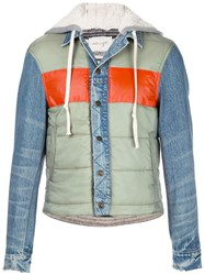 Greg Lauren Contrast Padded Jacket 60