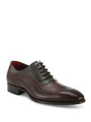 Mezlan Leather Wingtip Oxfords Brown Multi