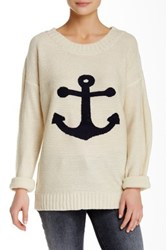 Pink Owl Anchor Knit Sweater Beige