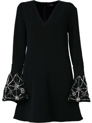 Andrea Bogosian Embellished Flare Dress Black