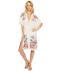 Echo Design Wildflower Open Front Tunic White Clothing