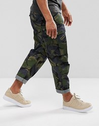 G Star Rovic Loose 7 8 Trouser Camo Print Raw Lt Aged Olive Ao Green