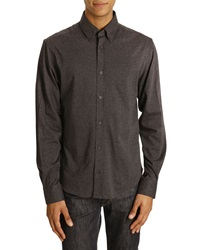 Menlook Label Jerry Coal Grey Shirt With Button Down Collar