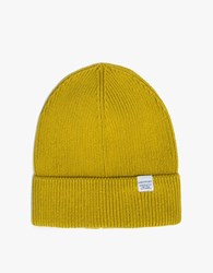 Norse Projects Cotton Watch Beanie In Edge Yellow